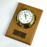 Barometer, Small Marine Style Wall Mounted, Personalised, Oak ref MB03